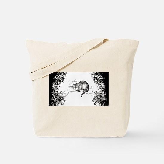 Cheshire Cat Swirls Tote Bag