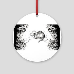 Cheshire Cat Swirls Ornament (Round)