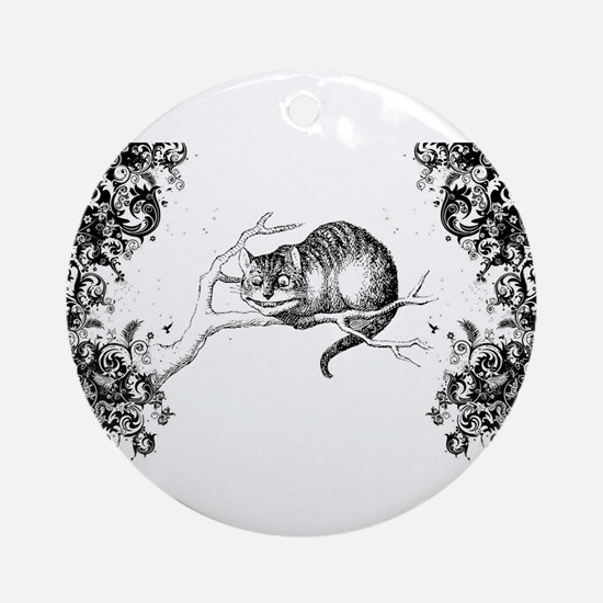 Cheshire Cat Swirls Ornament (Round)