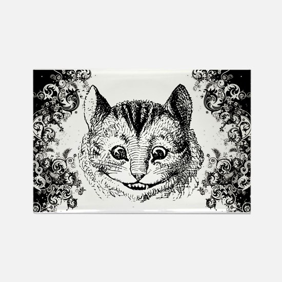 Cheshire Cat Swirls Rectangle Magnet