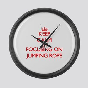 Keep Calm by focusing on Jumping Large Wall Clock