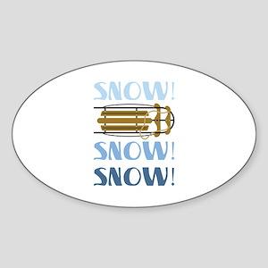 Snow Sled Sticker