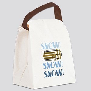 Snow Sled Canvas Lunch Bag