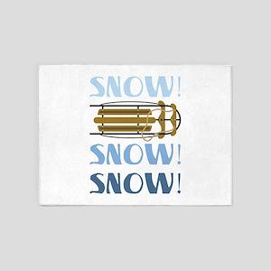 Snow Sled 5'x7'Area Rug