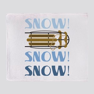 Snow Sled Throw Blanket