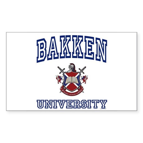 BAKKEN University Rectangle Sticker