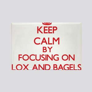 Keep Calm by focusing on Lox And Bagels Magnets