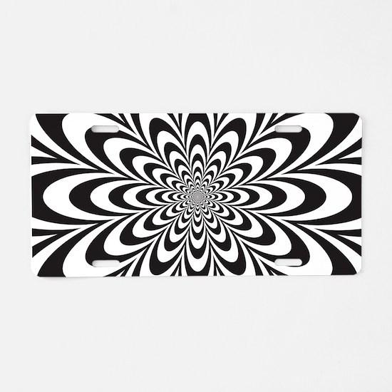 Cute Illusion Aluminum License Plate