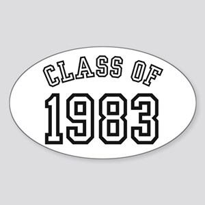 Class of 1983 Oval Sticker
