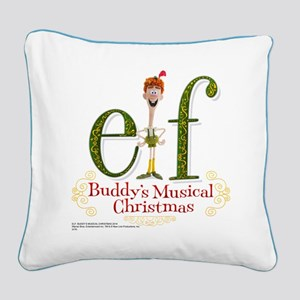 Elf: Buddy's Musical Christma Square Canvas Pillow