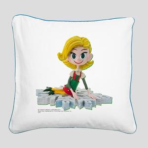Elf: Jovie Square Canvas Pillow