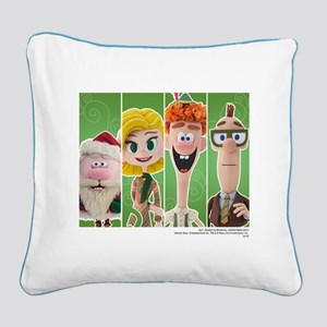 Elf Characters Square Canvas Pillow