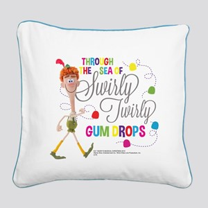 Swirly Twirly Gumdrops Square Canvas Pillow