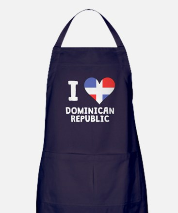 I Heart Dominican Republic Apron (dark)