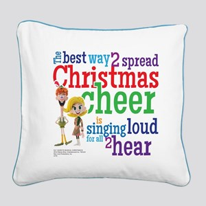Singing Loud Square Canvas Pillow
