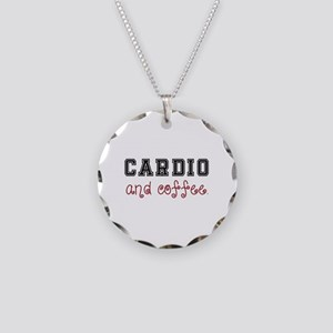 Cardio and Coffee Necklace Circle Charm