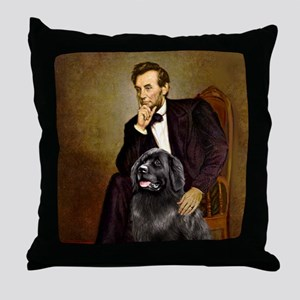 Lincoln/Newfoundland Throw Pillow