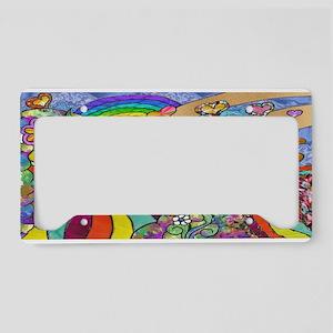Psychedelic Sunshine Art License Plate Holder