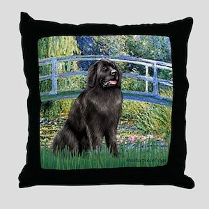 Bridge - Newfie 2 Throw Pillow