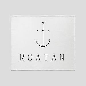 Roatan Honduras Sailing Anchor Throw Blanket