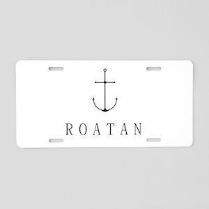 Roatan Honduras Sailing Anchor Aluminum License Pl