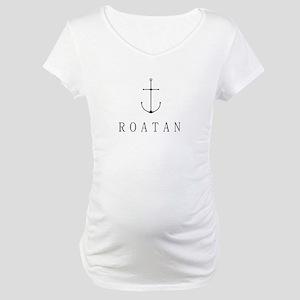 Roatan Honduras Sailing Anchor Maternity T-Shirt