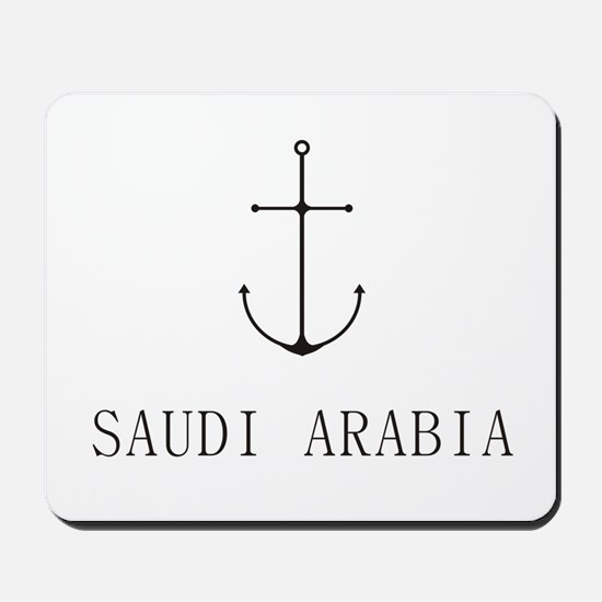 Saudi Arabia Sailing Anchor Mousepad