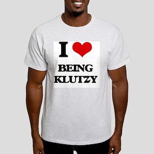 I Love Being Klutzy Light T-Shirt