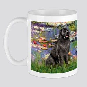 Lilies2-Newfie2 Mug