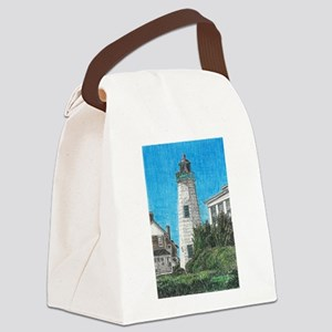 Old Point Comfort Lighthouse Canvas Lunch Bag