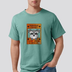 Schnauzer Therapy Mens Comfort Colors Shirt