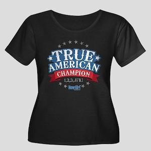 New Girl Women's Plus Size Scoop Neck Dark T-Shirt