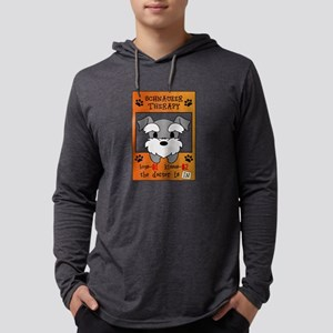 Schnauzer Therapy Mens Hooded Shirt