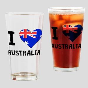 I Heart Australia Drinking Glass