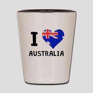 I Heart Australia Shot Glass