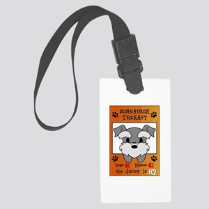 Schnauzer Therapy Large Luggage Tag