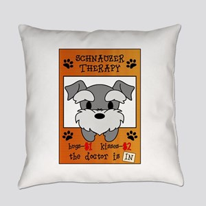 Schnauzer Therapy Everyday Pillow