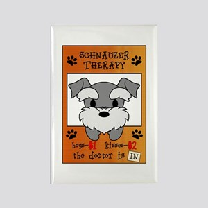 Schnauzer Therapy Rectangle Magnet