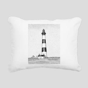 Bodie Island Lighthouse Rectangular Canvas Pillow