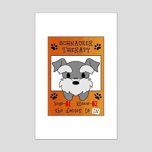 Schnauzer Therapy Mini Poster Print