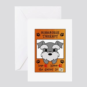 Schnauzer Therapy Greeting Card
