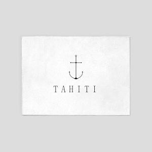 Tahiti Sailing Anchor 5'x7'Area Rug