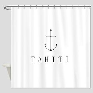 Tahiti Sailing Anchor Shower Curtain