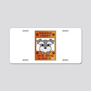 Schnauzer Therapy Aluminum License Plate