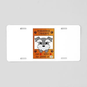 Schnauzer Therapy Aluminum License Plate
