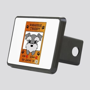 Schnauzer Therapy Rectangular Hitch Cover