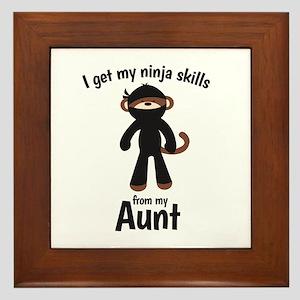 Monkey Ninja - Get Skills From My Aunt Framed Tile
