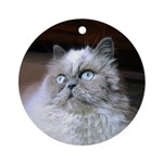 PIXEL Kitty Round Ornament