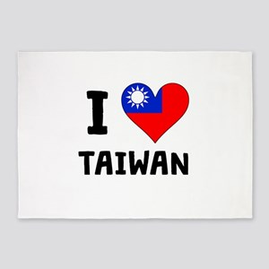 I Heart Taiwan 5'x7'Area Rug