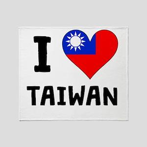 I Heart Taiwan Throw Blanket